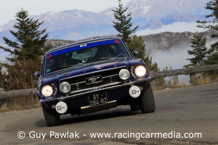 La Ford Mustang à l'honneur dans ce 20ème Rallye de Monte-Carlo Historique